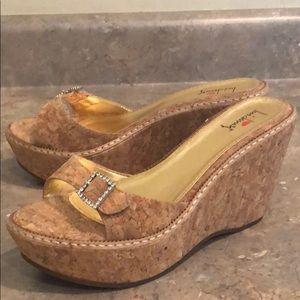 Luichiny Platform Cork Slip-On Sandals